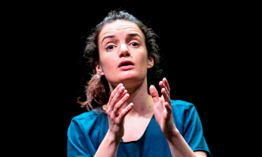 Walking through a terrain of darkness … Aoife Duffin as the narrator in A Girl Is a Half-formed Thing
