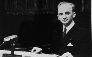 Ferencz at the Einsatzgruppen trial at Nuremberg.