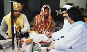 A couple get married with the help of the Love Commandos in 2010.