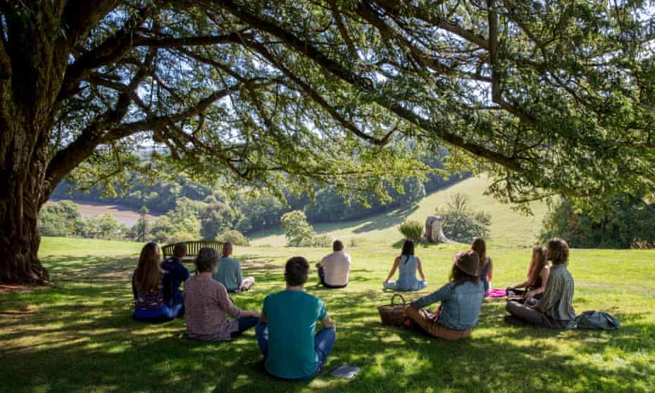 a Sharpham Trust retreat near Totnes, Devon, UK