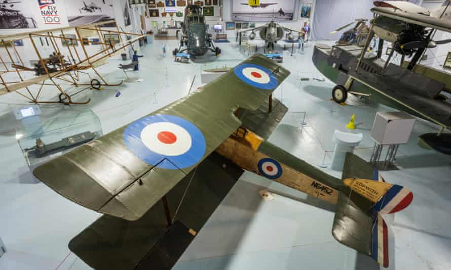 First world war aircraft in hall one of the museum