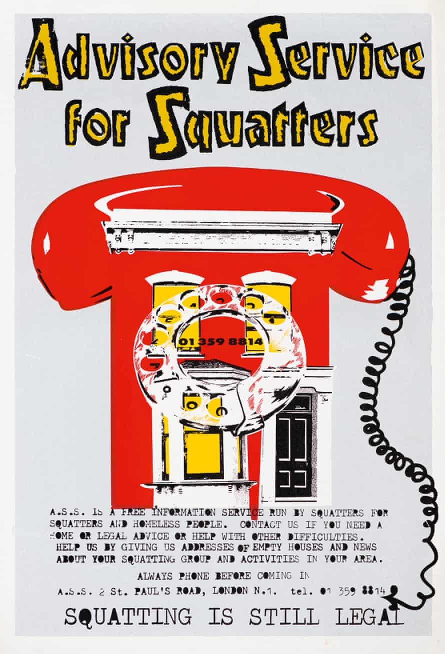Advisory Service for Squatters poster, 1979, John Phillips