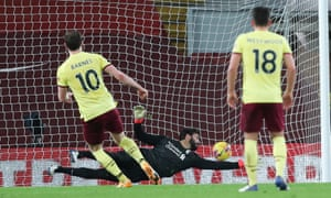 Burnley's Ashley Barnes scores his side's first goal of the game from the penalty spot.
