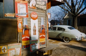Advertising signage, southern states, 1954