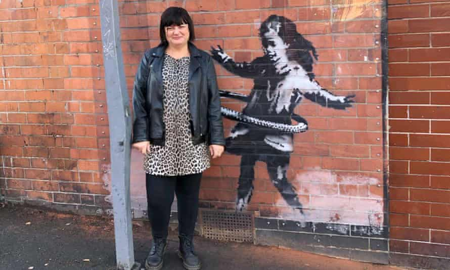Teacher Tracy Sansom, who noticed the original had disappeared when she went to see the artwork on Sunday morning.