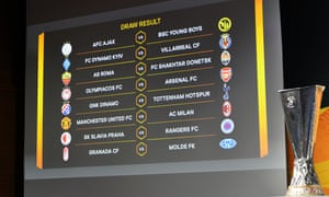 Your Europa League last-16 draw.