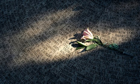 A lone rose sits at the World Aids Day Ceremony at the National Aids Memorial Grove in Golden Gate park on 1 December 2004.