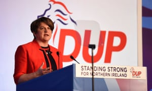 Arlene Foster speaking during the DUP annual conference.