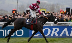 Bryan Cooper celebrates victory on Don Cossack in the 2016 Cheltenham Gold Cup.