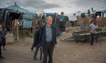 Alf Dubs visits the Calais camp: 'No wonder they are so desperate to escape.'