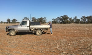 Mark Robinson, a grain grower from Coonamble, NSW, on his property,Nyleve.