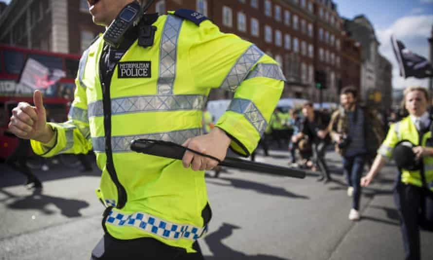 Police run down Whitehall