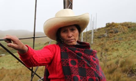 A subsistence farmer in Peru's northern highlands, Maxima Acuña de Chaupe stood up for her right to peacefully live off her own land, a property sought by Newmont and Buenaventura Mining to develop the Conga gold and copper mine.