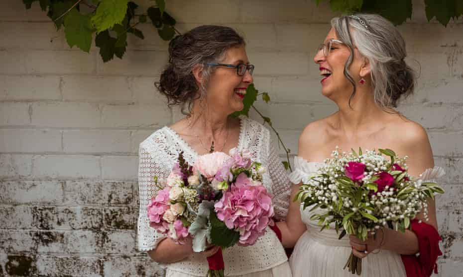 Tricia Dearborn and Cynthia Nelson, who campaigned together for marriage equality in 2017, tied the knot this year.