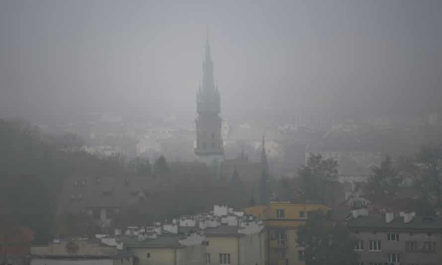 Household stoves burning coal are responsible for an estimated 88% of the Poland's non-industrial air pollution – and almost half of particulate matter pollution in Krakow, pictured here.