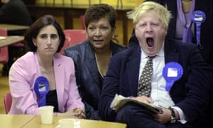 Marina Wheeler with Boris Johnson at the 2001 election count in Oxfordshire