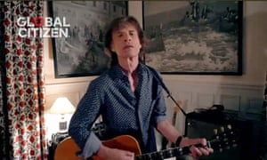 Mick Jagger performs for the One World: Together At Home event in April