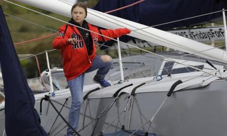 Greta Thunberg begins zero-carbon Atlantic voyage – video