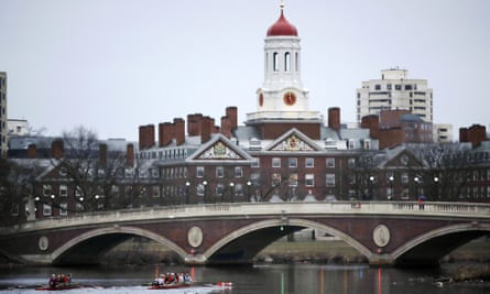The Harvard College campus in Cambridge, Massachusetts. At least 10 students have lost their offers of admission over 'obscene memes' posted on Facebook.