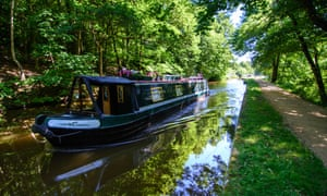 A narrowboat on the Leeds and Liverpool Canal at Shipley.