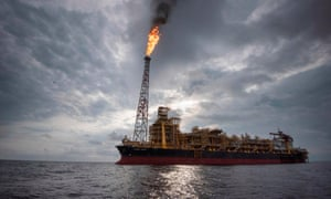 An oil vessel off the coast of Angola