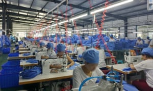 PPE factory in Dandong in China