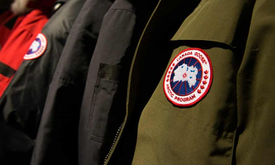 Canada Goose jackets at the brand's flagship US store in New York City.