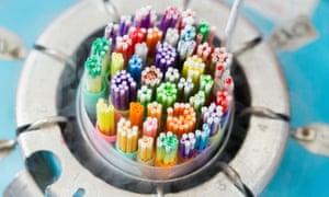 Straws containing frozen sperm
