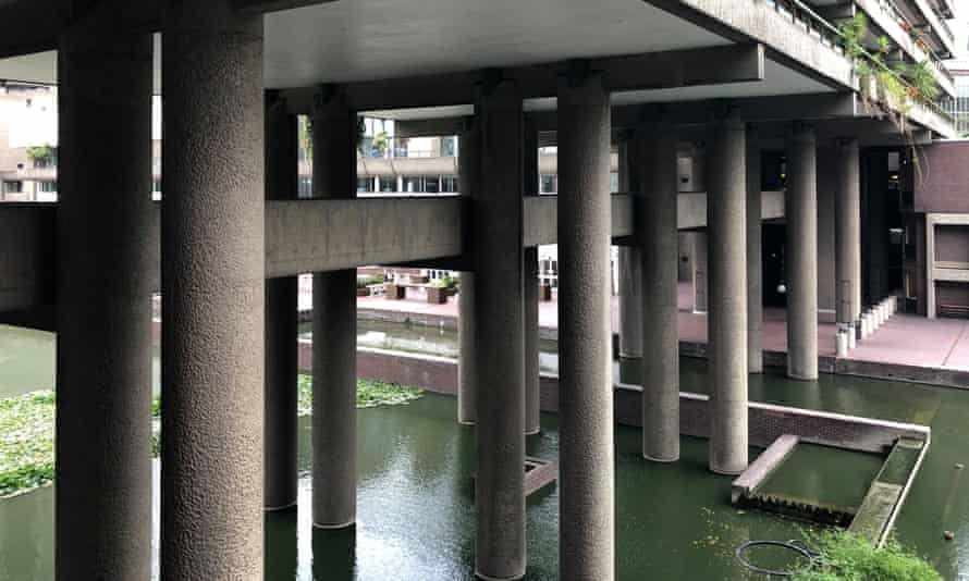 Barbican Centre pedway. Pedways, elevated walkways in the City of London