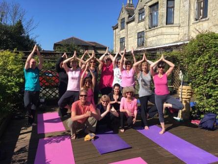 A Skyros yoga break.