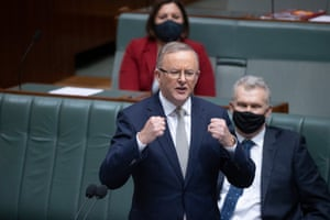 Opposition leader Anthony Albanese after question time