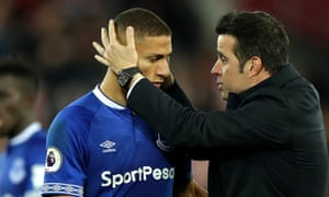 Marco Silva is delighted with the nine-goal return of Richarlison, who has also played on the left as well as being suspended this season.