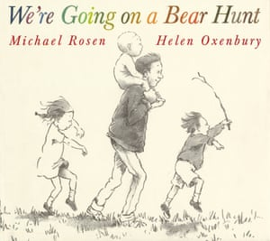 We're Going on a Bear Hunt, by Michael Rosen with illustrations by Helen Oxenbury.