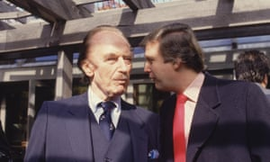 Donald Trump with his father Fred in the 1980s. In the early 1970s, the US justice department sued Trump Management for racial discrimination against African Americans.