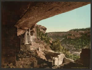 Cliff Palace, Mesa Verde, as seen from the ruins, Colorado