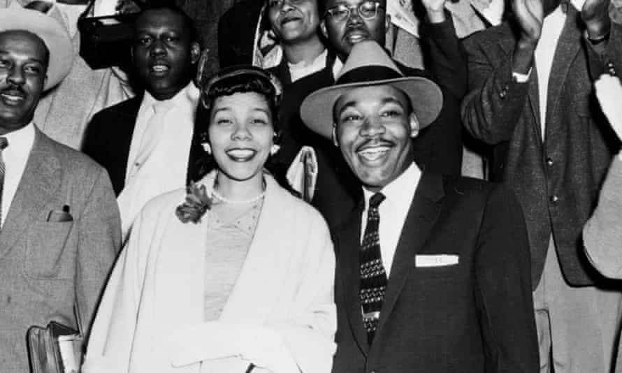 The Rev Martin Luther King Jr and his wife Coretta Scott King.