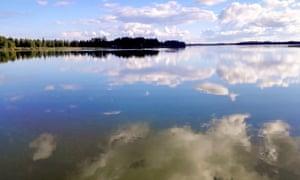 Köyliönjärvi lake, western Finland.