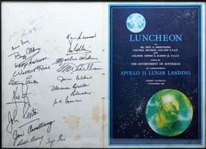 A post-moon landing luncheon schedule