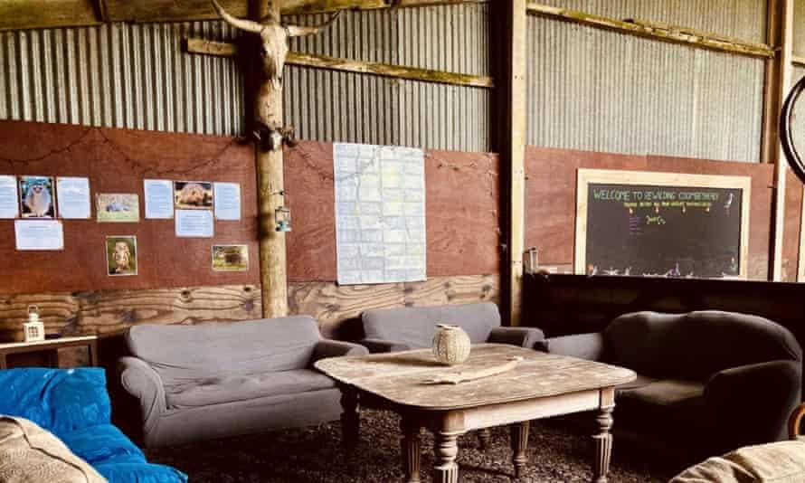 A lounge area at the farm.