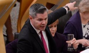 Scottish finance secretary Derek Mackay presents his draft budget for 2019-20 to the Scottish parliament