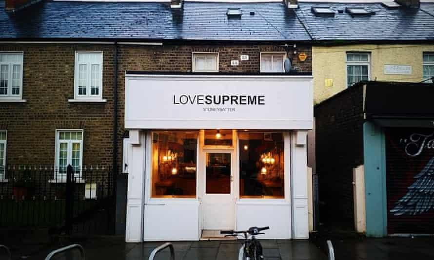 Exterior of Love Supreme coffee shop in Dublin's Stoneybatter neighbourhood.