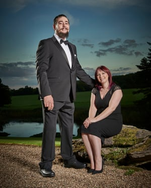 '10ft tall again': Craig Winspear and Hayley Willson.