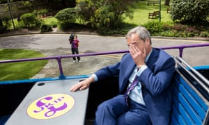 Farage on the battlebus.