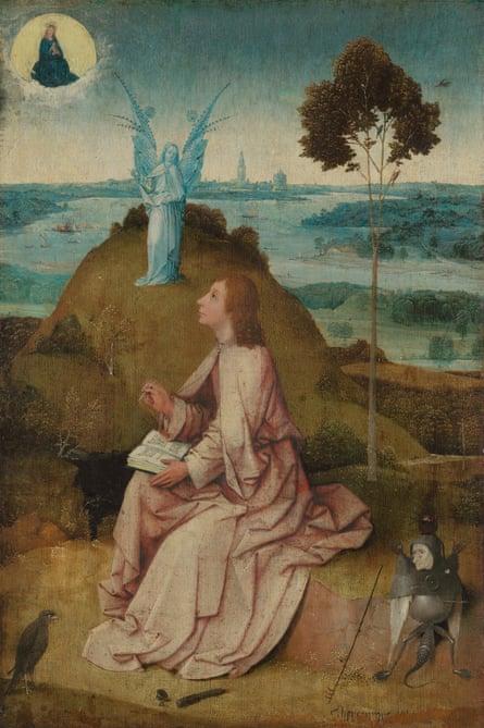 Spot the artist: Saint John on Patmos (detail) by Hieronimus Bosch.