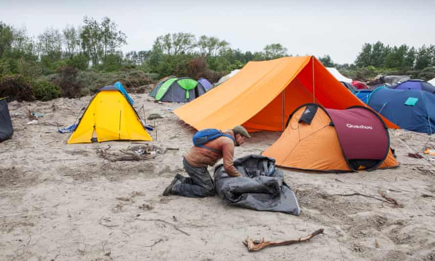 The charity Help Refugees UK put up tents donated by the public for refugees living in Calais