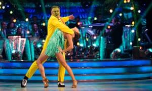 Ed Balls on Strictly Come Dancing performing with Katya Jones