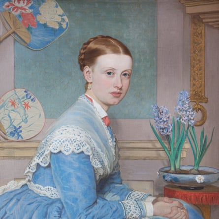 Painted portrait of Emily Massingberd at Gunby Hall, Lincolnshire.