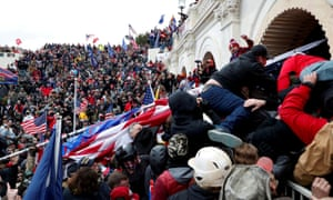Pro-Trump protesters stormed into the Capitol on 6 January.
