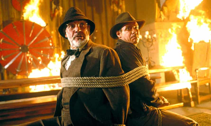 'So, what do you want to talk about?' … Sean Connery, left, and Harrison Ford in Indiana Jones and the Last Crusade.