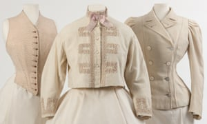 A waistcoat, croquet jacket and yachting jacket made for Queen Alexandra